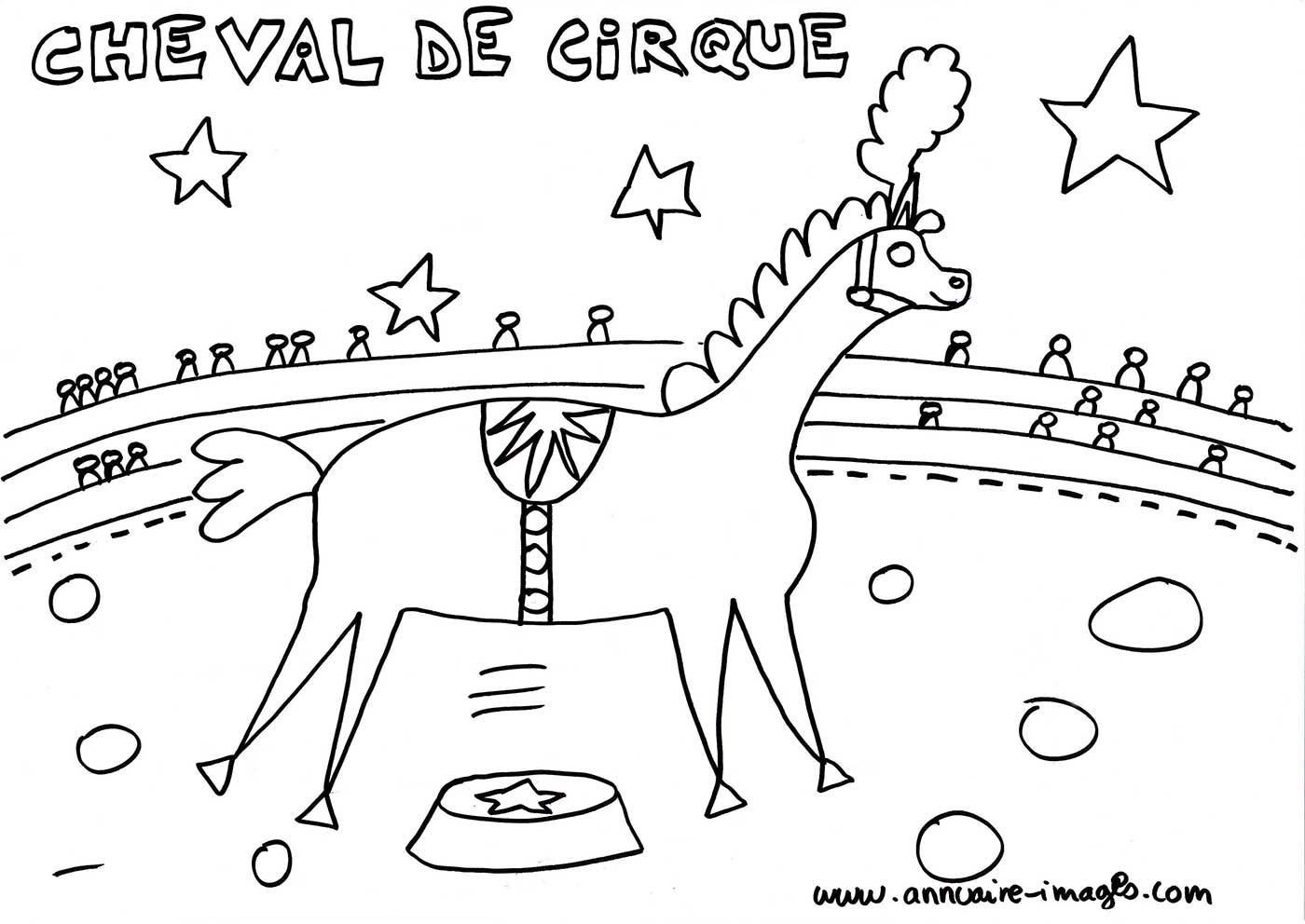 Coloriage Princesse Cirque.Photo Train Du Cirque Dessin A Colorier